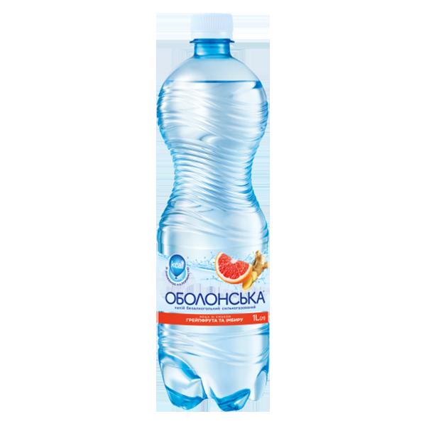 Оболонская вода со вкусом грейпфрута и имбиря PET 1L PET