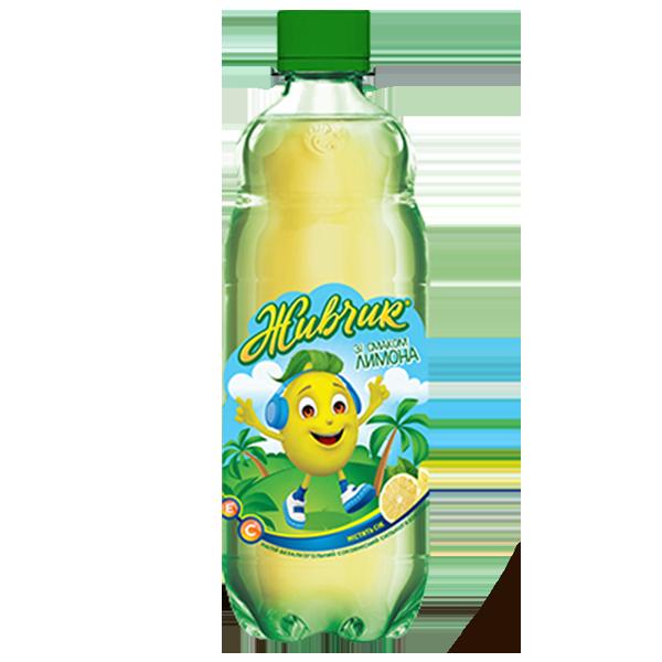 Живчик Лимон  газированный PET 0,5 л